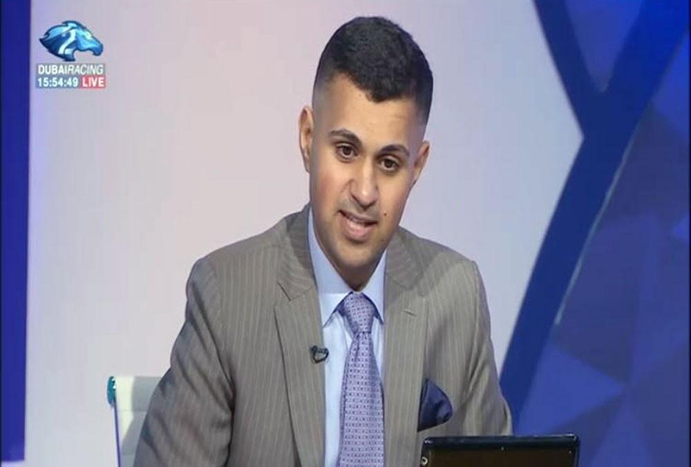 حسن الصددي يشارك بتحليل سباقات الخيل على قناة دبي ريسنغ