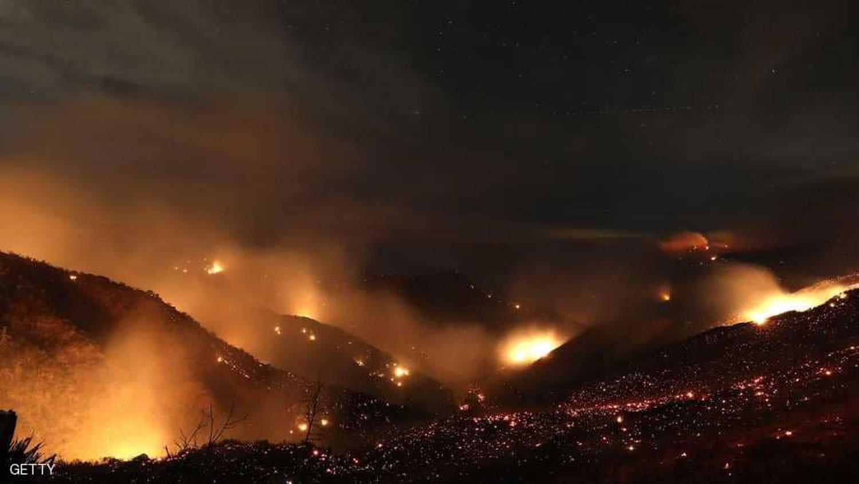 اندلاع 39 حريقا في أنحاء الولايات المتحدة وكاليفورنيا الأسوأ