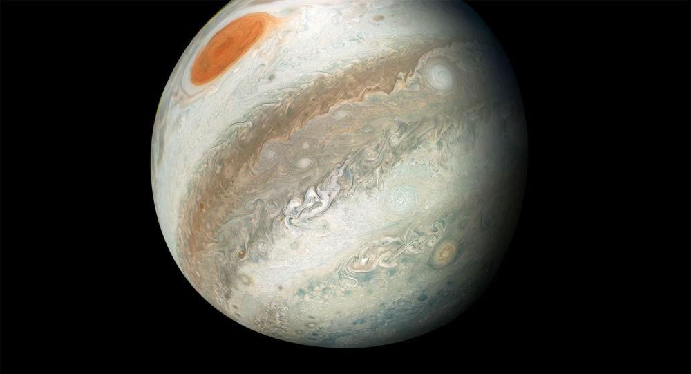 """""""ناسا"""" تنشر صورا لعاصفة وزوابع على كوكب المشتري"""