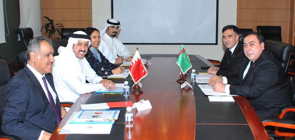 عقد الاجتماع الأول للمشاورات السياسية بين البحرين وتركمانستان
