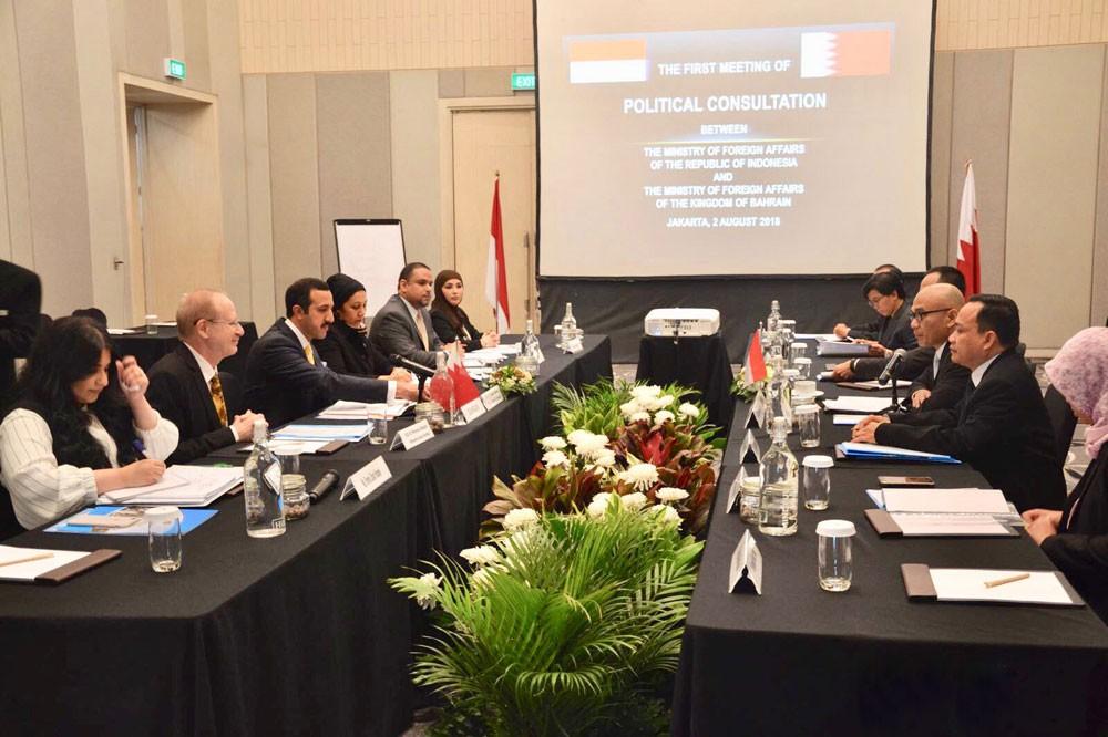 وكيل الخارجية يترأس وفد اجتماع مشاورات سياسية بين البحرين واندونيسيا