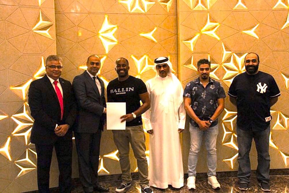 رئيس BMMAF ورئيس IMMAF يزوران صالة خليفة وفندق ويندهام جاردن