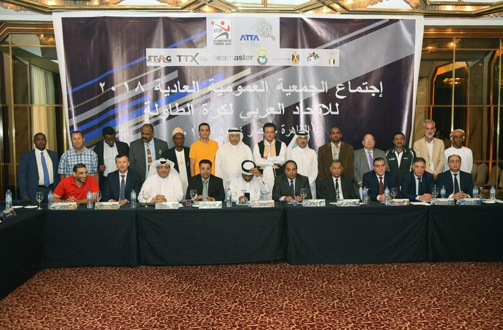 المادح يشارك في اجتماع الجمعية العمومية للاتحاد العربي لكرة الطاولة