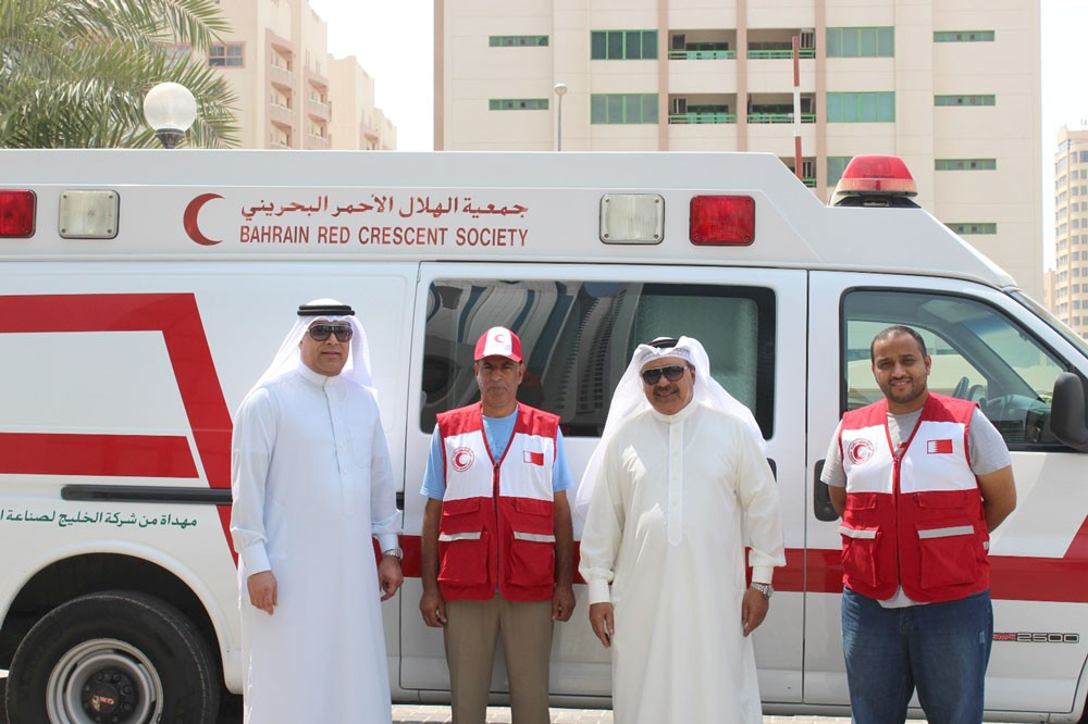 الهلال الأحمر البحريني يسير سيارة إسعاف لمرافقة حجاج بيت الله الحرام
