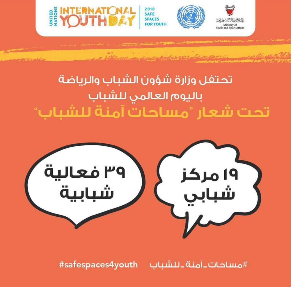 وزارة الشباب تنظم 39 فعالية متنوعة في المراكز الشبابية