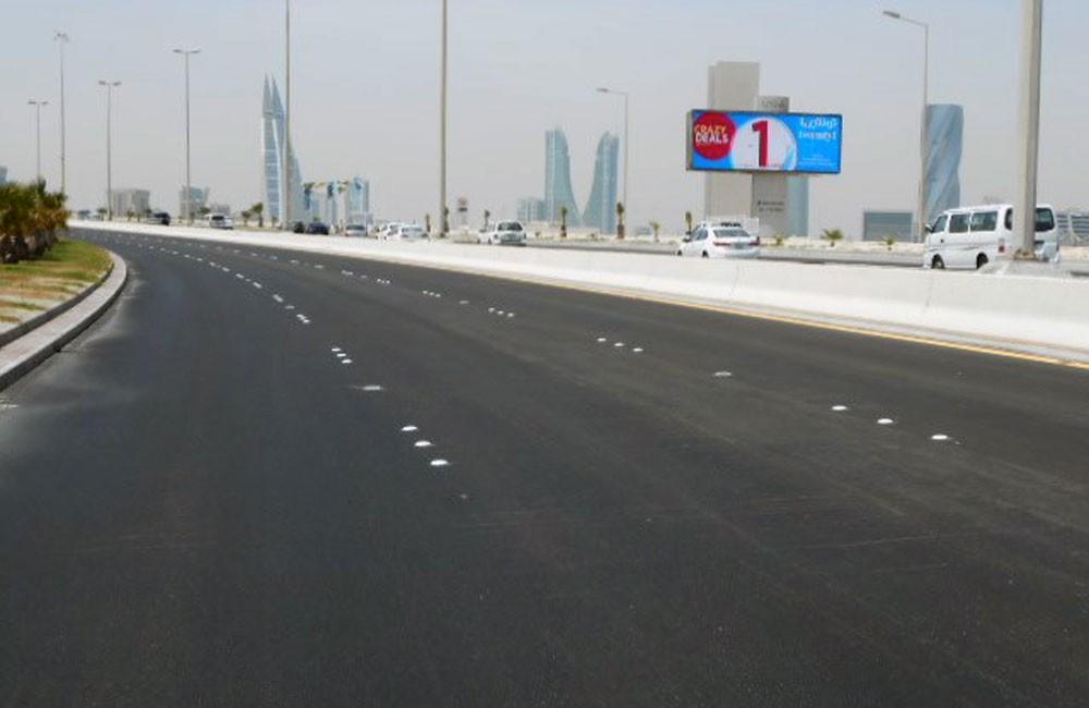 الانتهاء من أعمال إعادة تأهيل شارع جسر الشيخ عيسى بن سلمان باتجاه الشرق