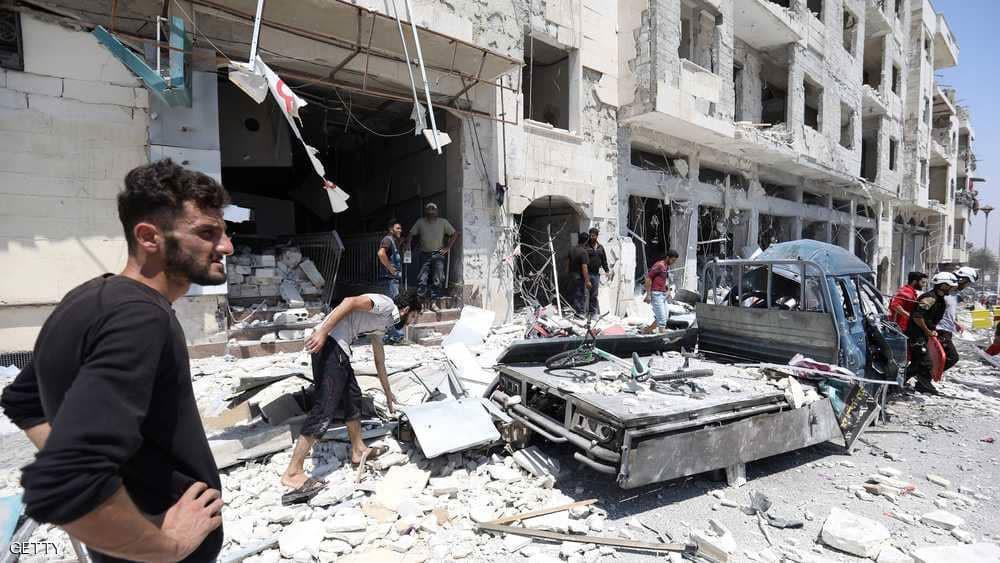 """قتلى في هجوم جوي """"عنيف"""" على إدلب"""
