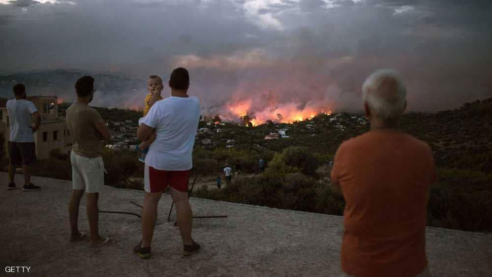 حريق غابات جديد في اليونان وإخلاء قريتين