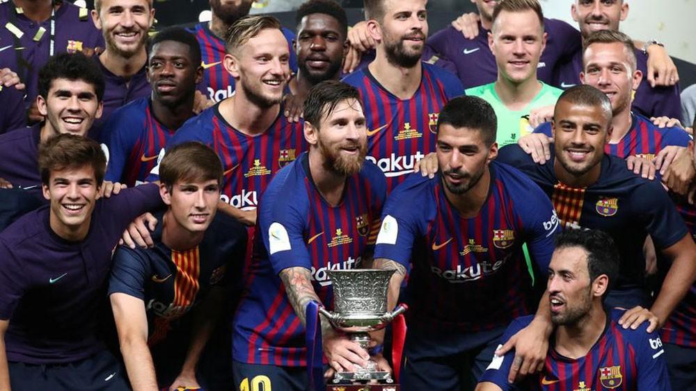 ديمبلي وتير شتيغن يقودان برشلونة إلى تحقيق كأس السوبر