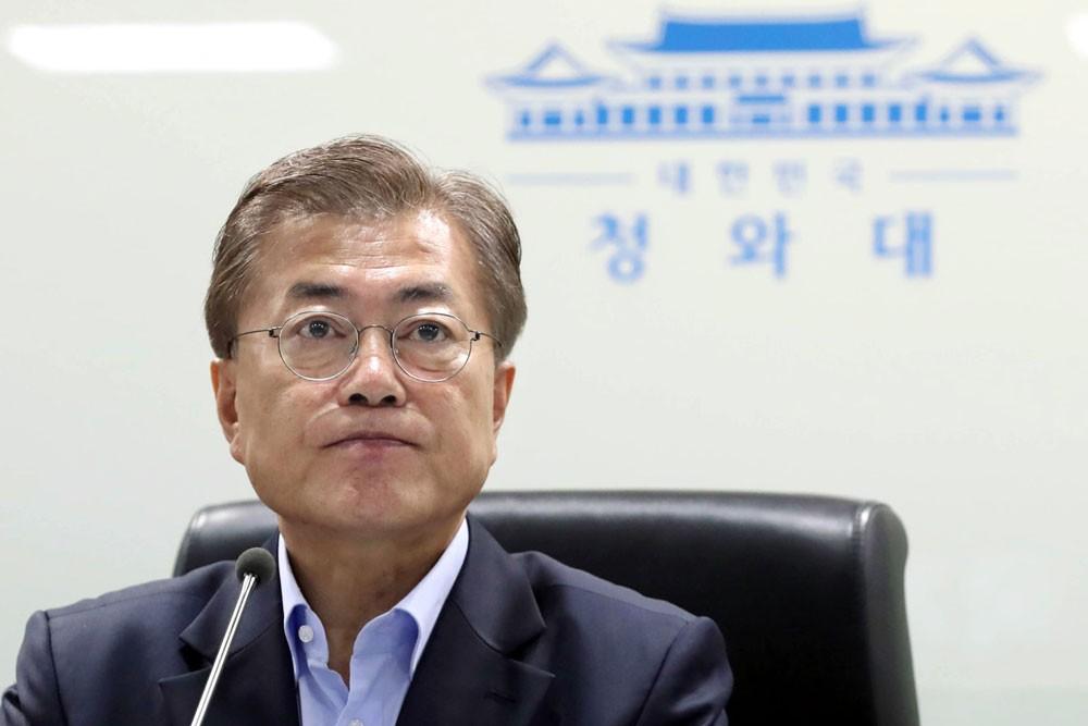 """رئيس كوريا الجنوبية: قمة بيونغ يانغ """"مبادرة جريئة"""" لانهاء الحرب"""
