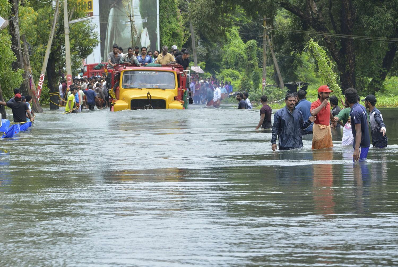 357 قتيلا وحوالي 3 مليارات دولار خسائر كيرالا الهندية جراء الفيضانات