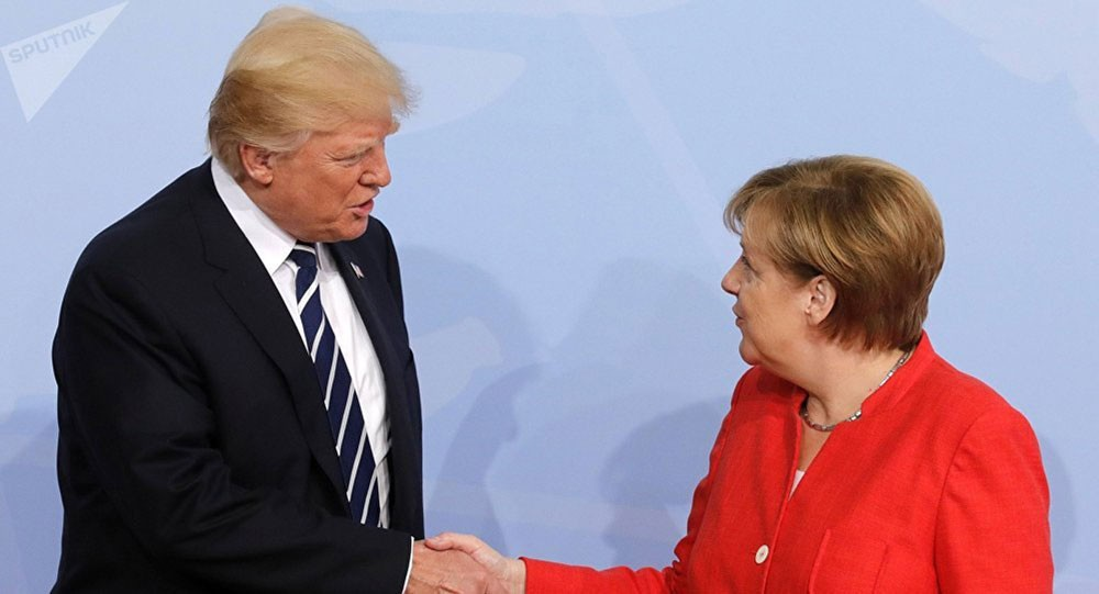ترامب وميركل يدعمان محادثات الولايات المتحدة والاتحاد الأوروبي حول إزالة الحواجز التجارية