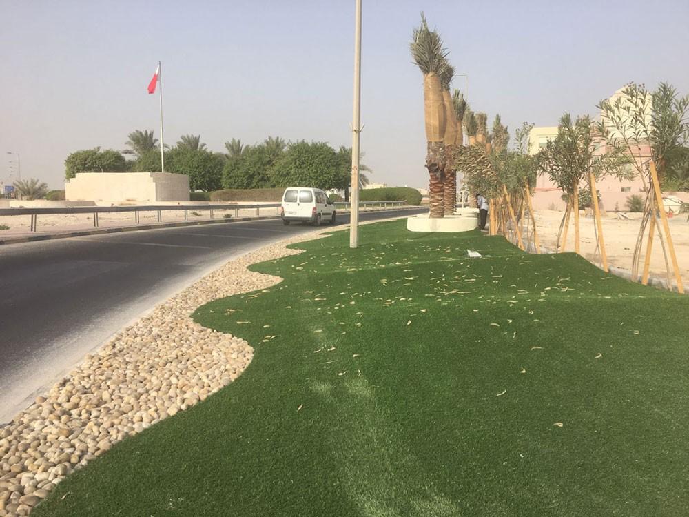 """""""الشمالية"""" تعمل على تجميل 3 دوارات بمدينة حمد ومدخل سار"""