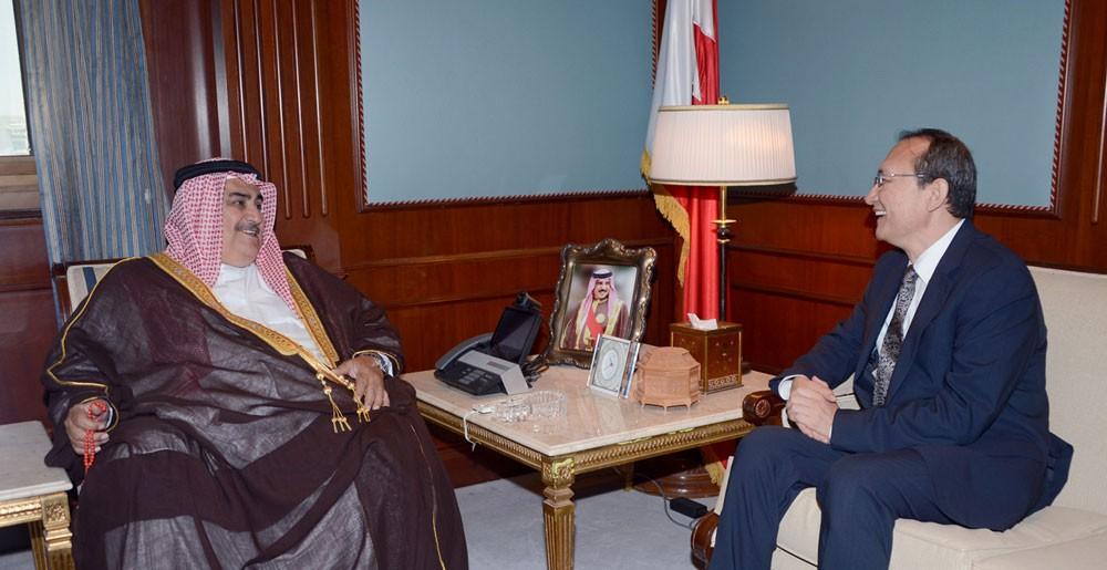 معالي وزير الخارجية يستقبل سفير جمهورية الصين الشعبية لدى البحرين