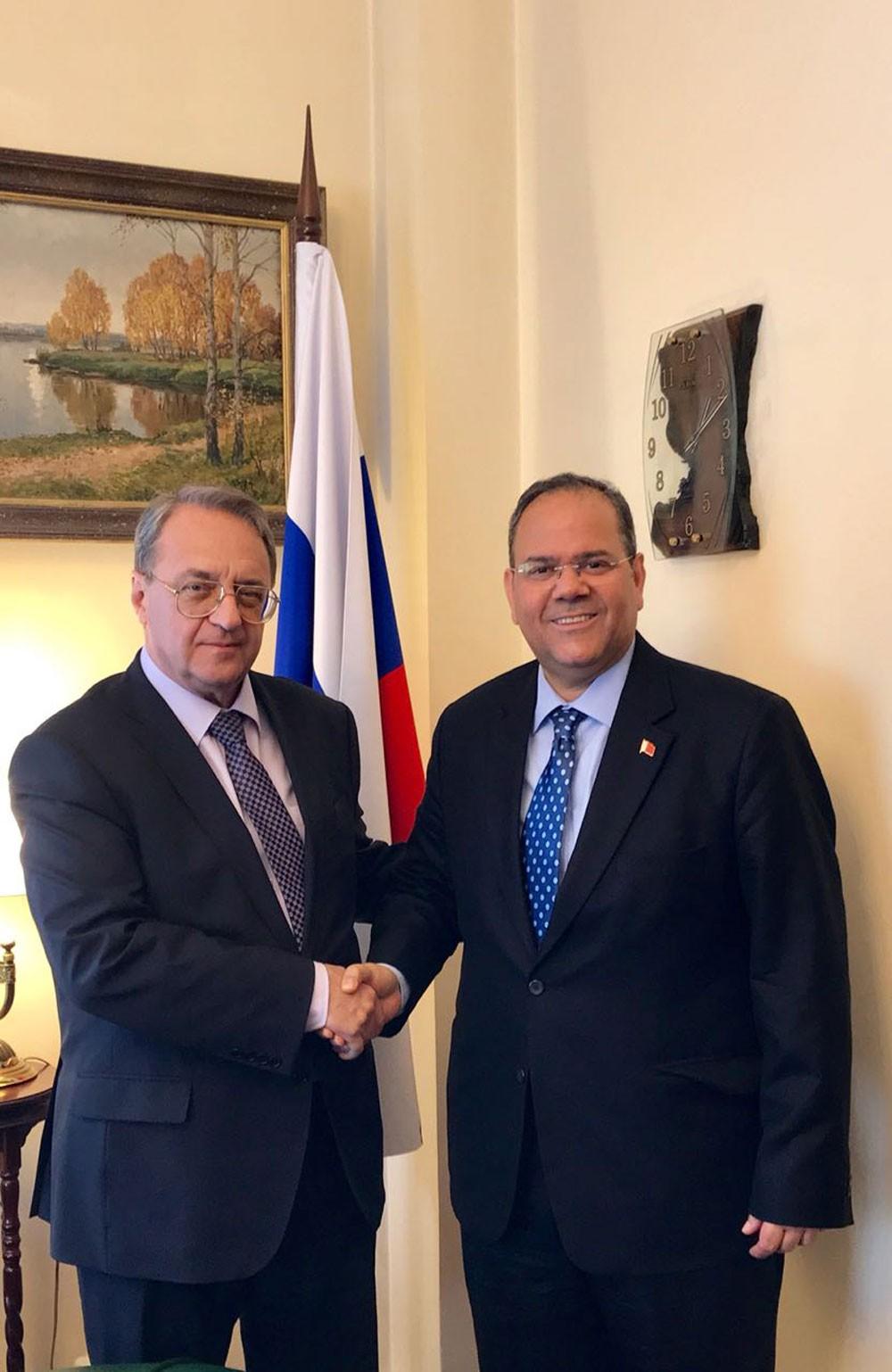 نائب وزير خارجية روسيا الاتحادية يستقبل سفير مملكة البحرين في موسكو