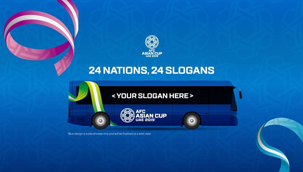الاتحاد الأسيوي لكرة القدم يطلق مسابقة لاختيار شعارات حافلات المنتخبات