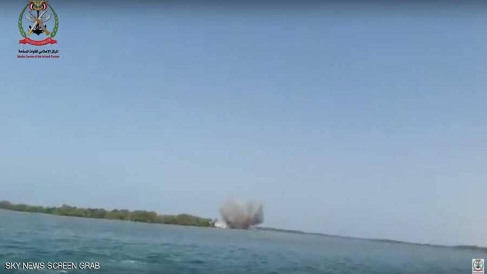 إحباط هجوم بزورق مفخخ للحوثيين في سواحل ميدي