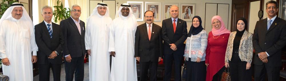 الوزير ميرزا يستقبل مجلس الادارة الجديد لجمعية البحرين للتدريب وتنمية الموارد البشرية