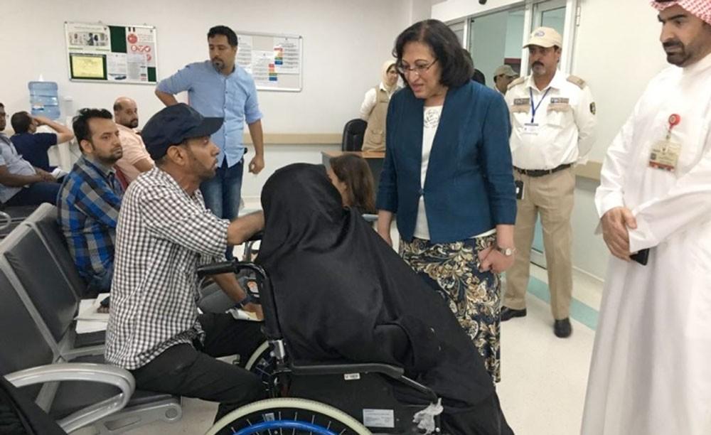وزيرة الصحة تتفقد قسم الطوارئ بمجمع السلمانية الطبي