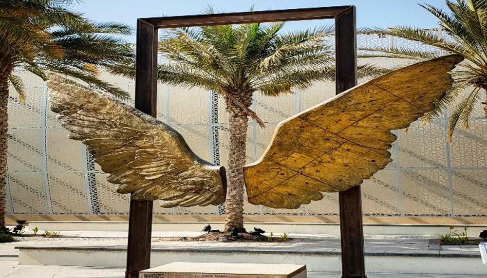 """منحوتة """"أجنحة المكسيك"""" للفنان خورخي مارين تزور الإمارات"""