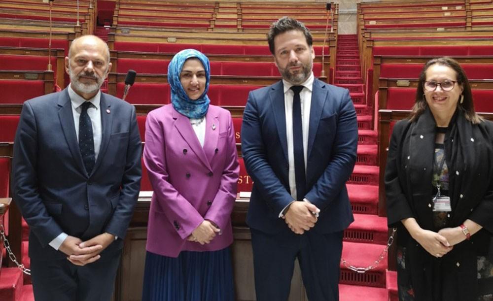 الأنصاري تجتمع مع النائب الأول لرئيس مجلس النواب الفرنسي