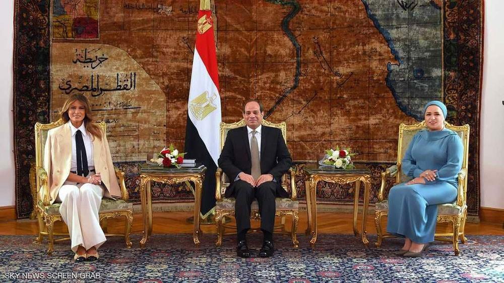"""من قصر الاتحادية.. ميلانيا ترامب تشيد بـ""""كرم ضيافة مصر"""""""