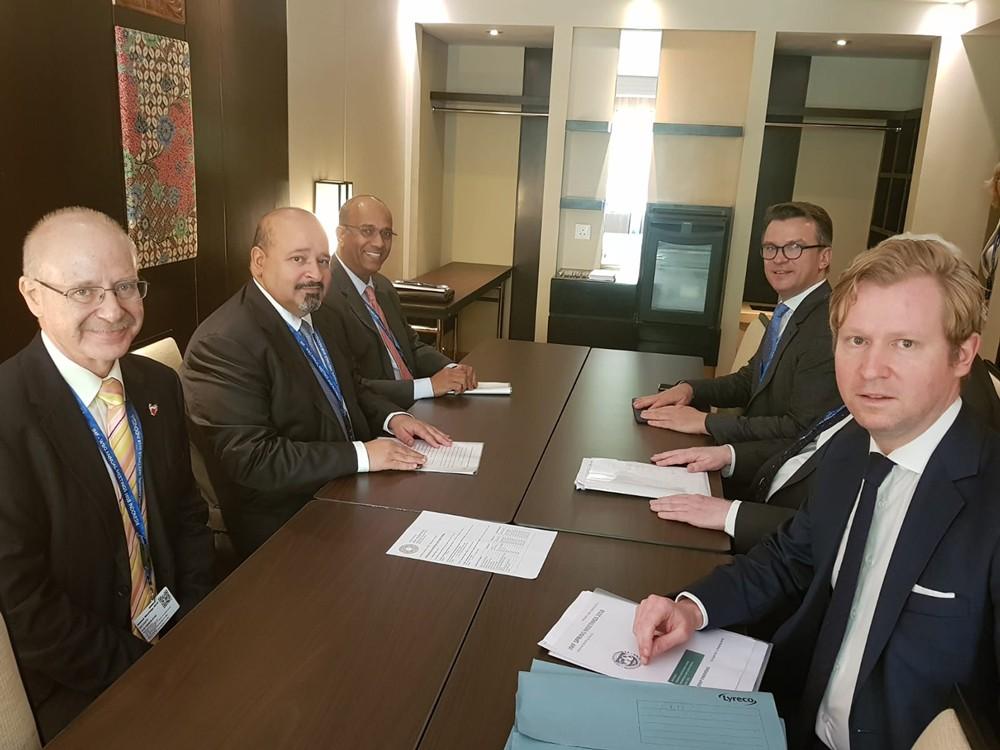 وزير المالية يجتمع مع رئيس بنك BNP Paribas