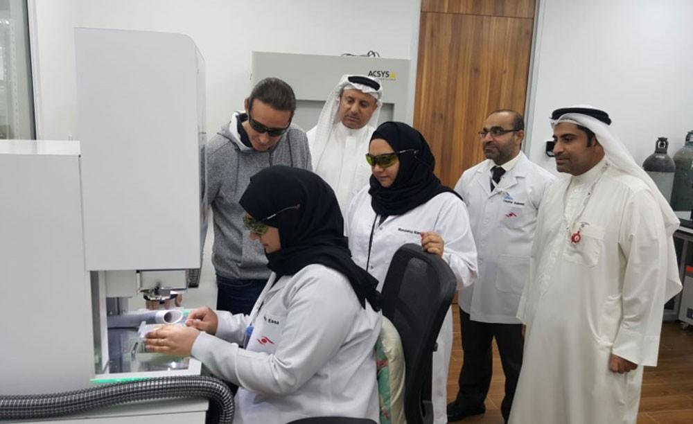 وزارة الصناعة تدشن المرحلة الثانية من توسعة خط إنتاج المصوغات بتقنية الليزر
