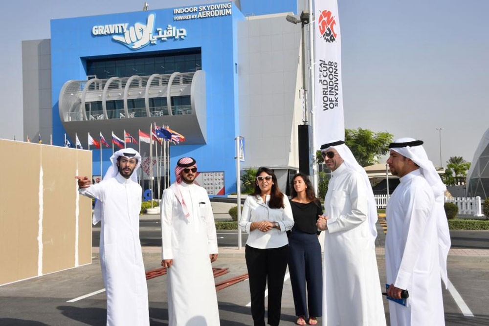 وزير الشباب يطلع على استعدادات جرافيتي لاستضافة كأس العالم للطيران الحر