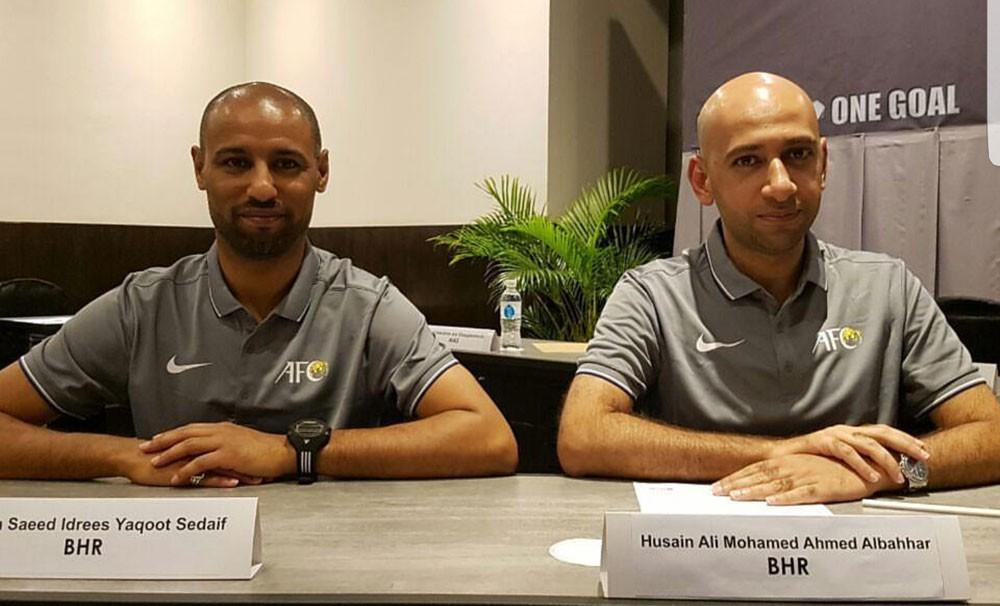 البحار وإدريس يشاركان في إدارة تصفيات كأس آسيا للصالات تحت 20 عامًا