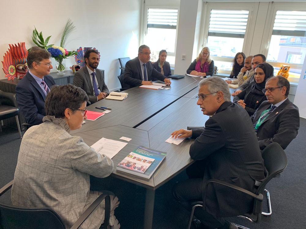 الزياني يجتمع بالمدير التنفيذي لمركز التجارة الدولي