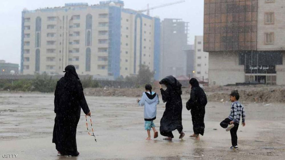 السعودية.. تعليق الدراسة بمدارس وجامعات لسوء أحوال الطقس
