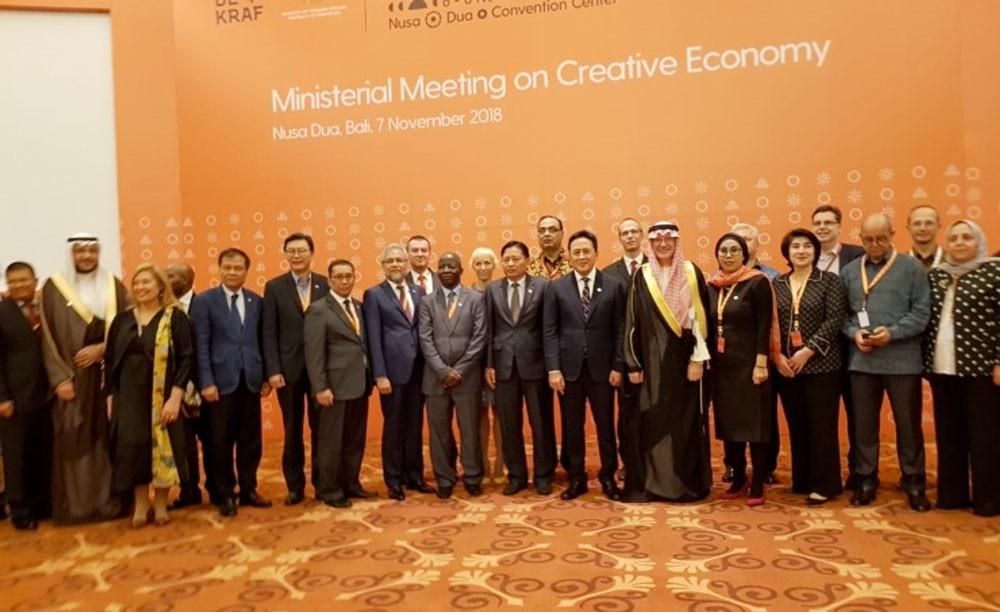 سفير  البحرين لدى اندونيسيا يشارك في المؤتمر الوزاري العالمي للاقتصاد الإبداعي
