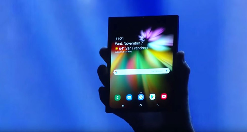 سامسونج تكشف النقاب رسميًا عن هاتفها الذكي القابل للطي الأول