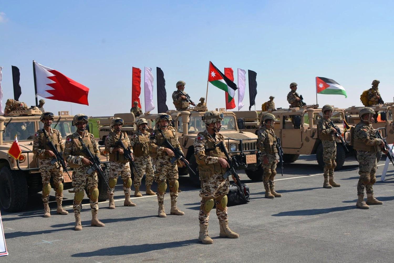 قوة دفاع البحرين تشارك في التمرين المشترك درع العرب -1