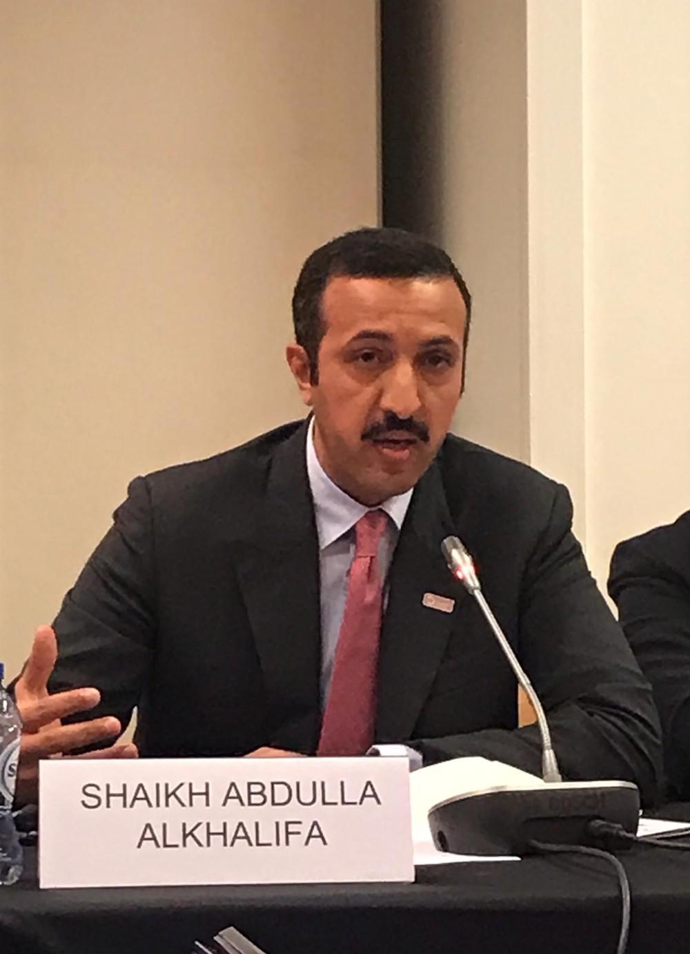 الشيخ عبدالله بن أحمد يشارك في القمة العالمية لمراكز الفكر ببروكسل