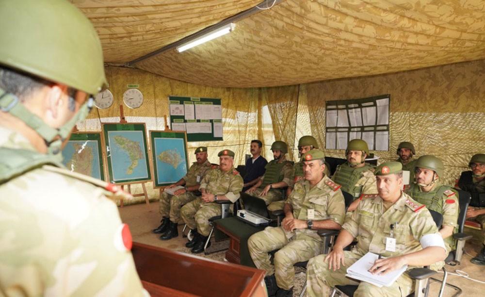 مدير أركان الحرس الوطني يشيد بكفاءة قيادات تمرين (راية العز 1)