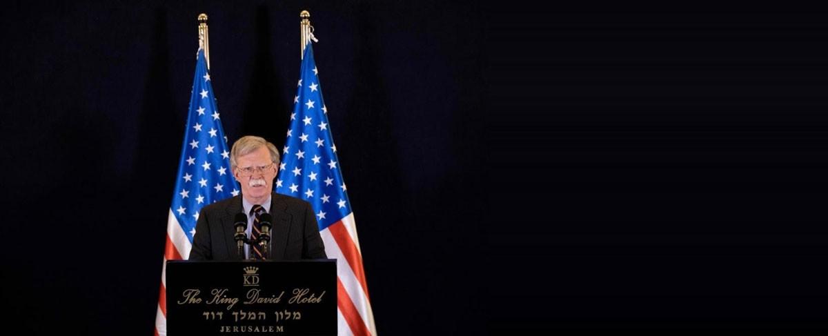 """بولتون يتوعد إيران بـ""""أقصى درجات الضغط"""""""