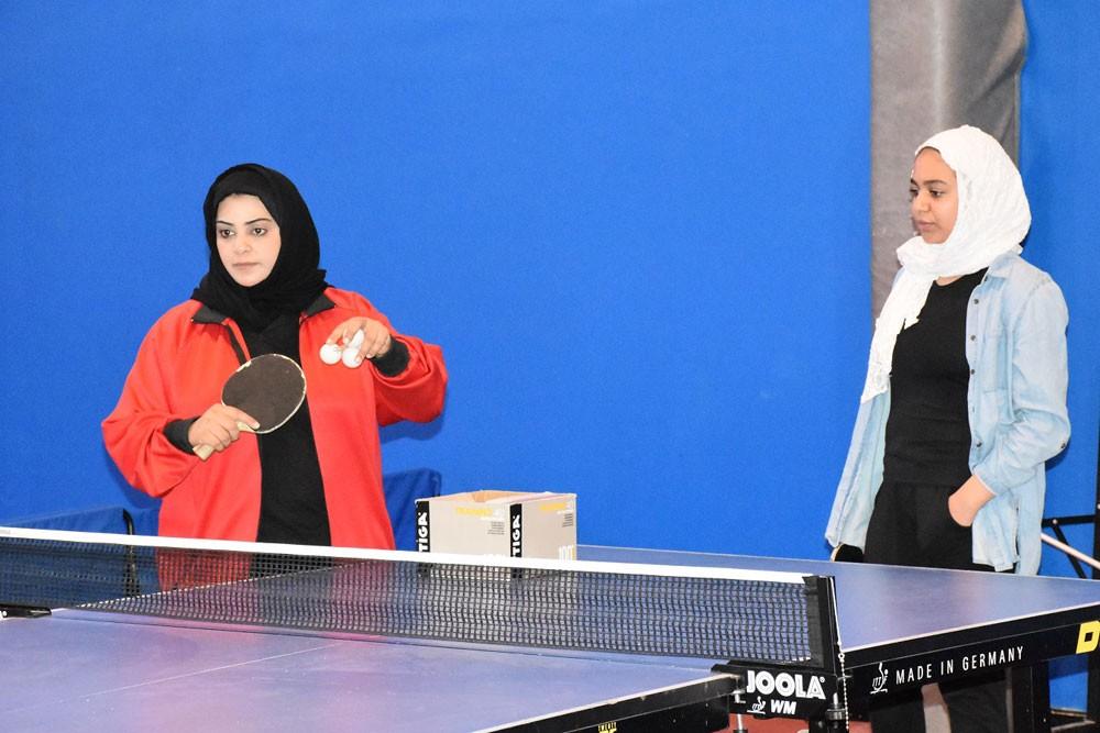 """انطلاق البرنامج الرياضي للفتيات """"رياضية"""" بمنافسات كرة الطاولة"""