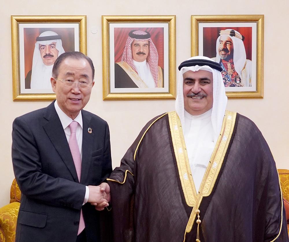 معالي وزير الخارجية يستقبل الأمين العام السابق للأمم المتحدة