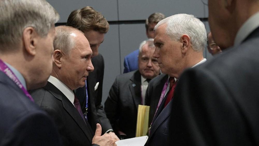 بوتين يبلغ بنس: روسيا لم تتدخل في الانتخابات الأميركية