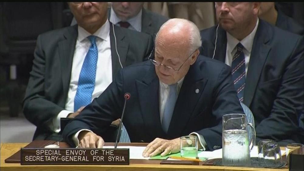 دي ميستورا يطلع مجلس الأمن على التطورات السياسية بسوريا