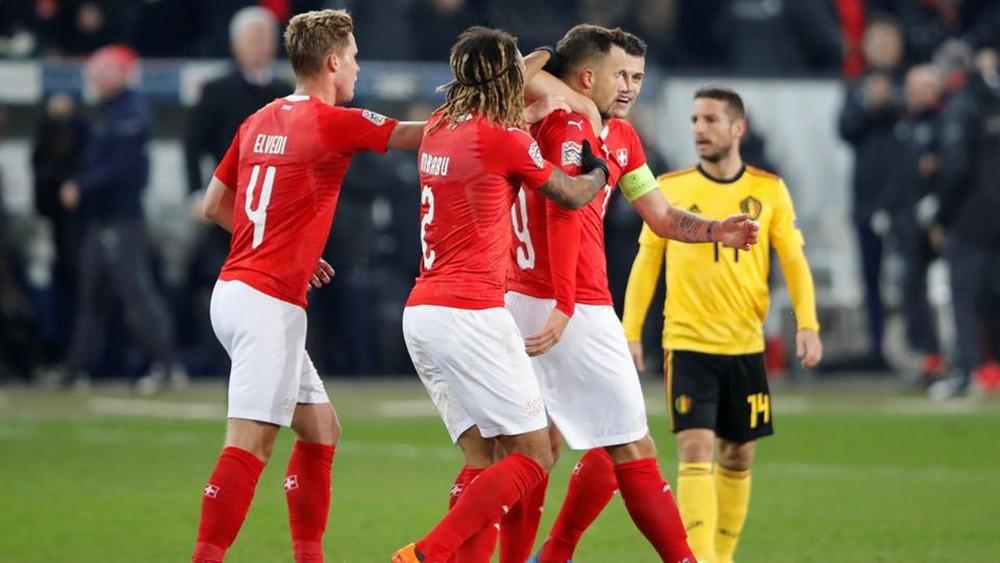 سويسرا تدك بلجيكا بخماسية وتصعد لدور الـ4 في دوري الأمم