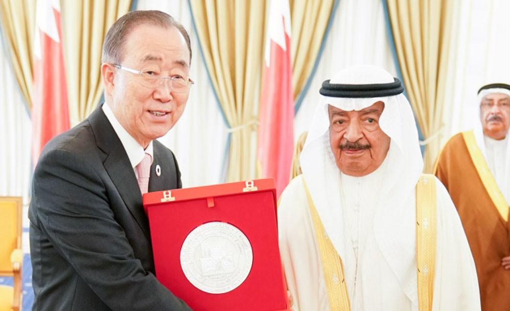 بان كي مون يعرب عن اعتزازه بحصوله على جائزة خليفة بن سلمان للتنمية المستدامة