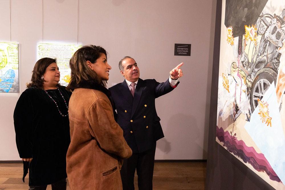 """""""أسبوع الفن البحريني في لندن"""" ضمن مبادرة """"آرت باب"""" يفتح أبوابه للزوار"""
