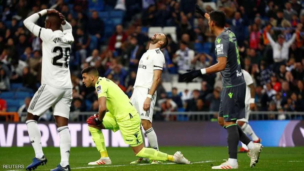 """ريال مدريد يسقط من جديد.. والمدرجات تفرغ """"مبكرا"""""""