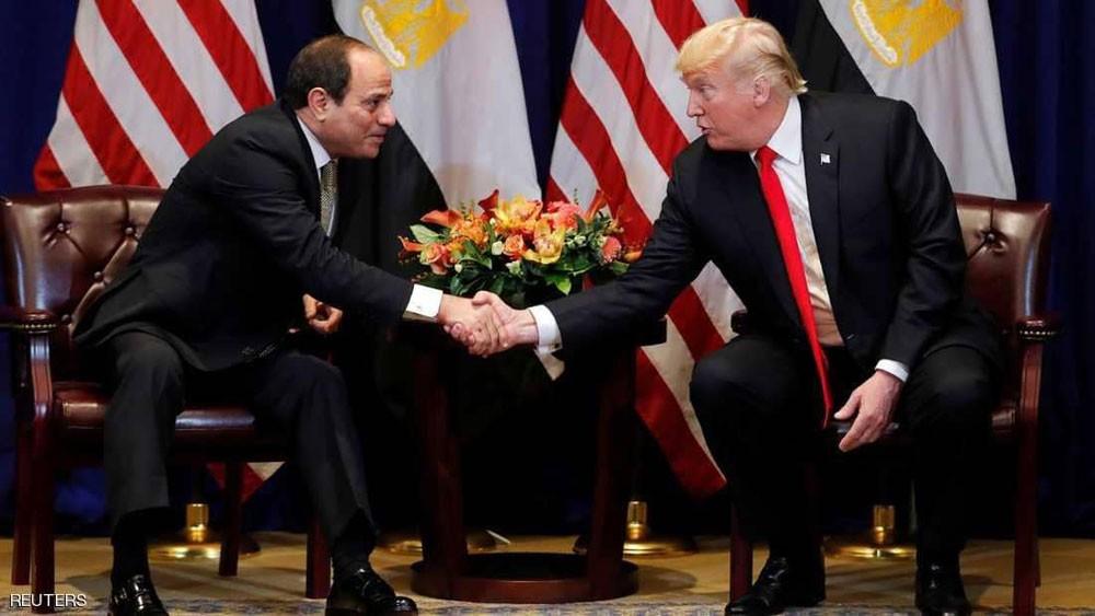 ترامب : السيسي يقود مصر إلى مستقبل يتسع للجميع