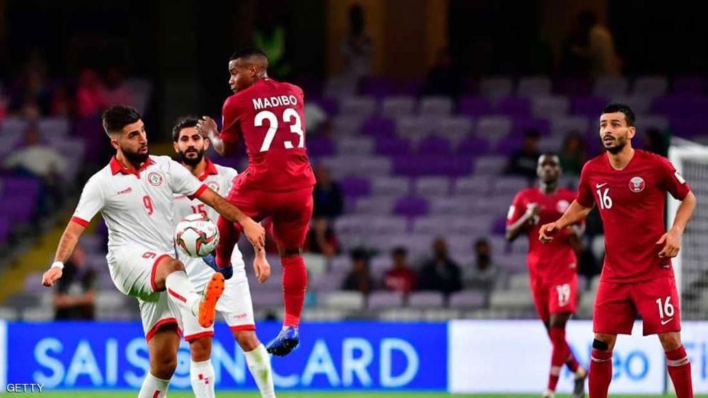 قطر تتغلب على لبنان بثنائية