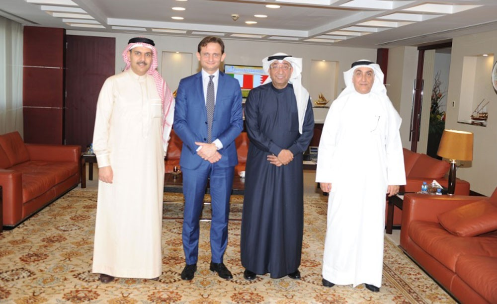 رئيس الغرفة يستقبل السفير الإيطالي لدى مملكة البحرين