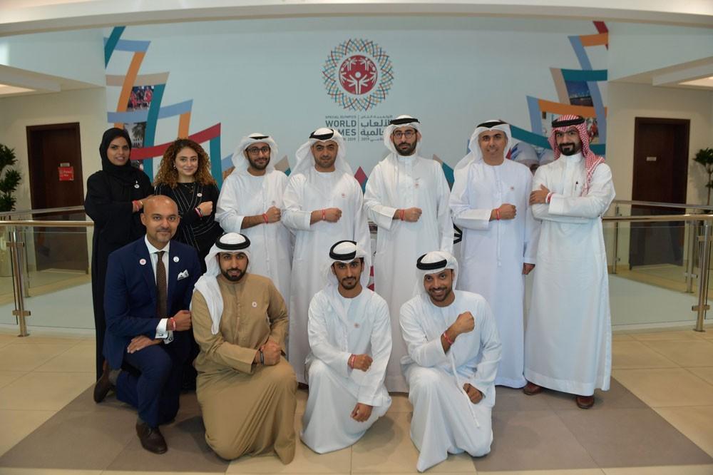 """المؤيد يزور مقر اللجنة المنظمة للأولمبياد الخاص للألعاب العالمية """"أبوظبي2019"""""""